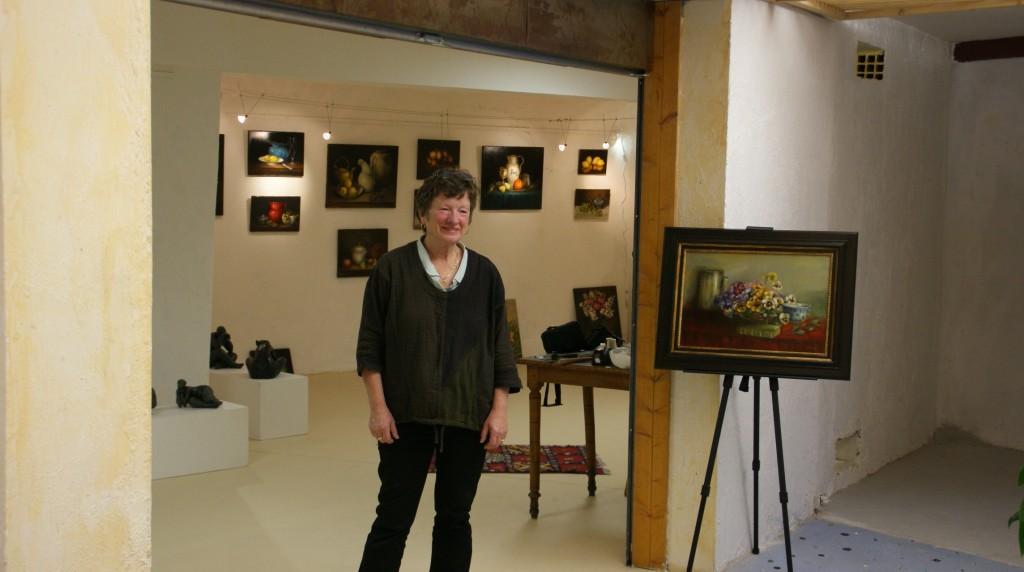 Elisabeth expose à Collioure